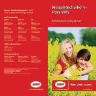 Freizeit-Sicherheits- Pass 2012
