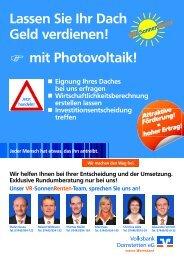 mit Photovoltaik! - Volksbank Dornstetten eG