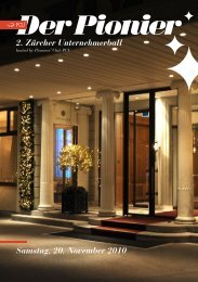 Der Pionier, das Magazin zum Unternehmerball 2010