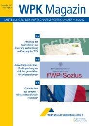 WPK Magazin 4/2012 - Wirtschaftsprüferkammer