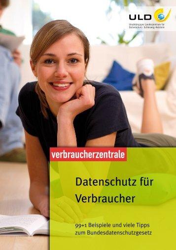 Datenschutz für Verbraucher - Unabhängiges Landeszentrum für ...