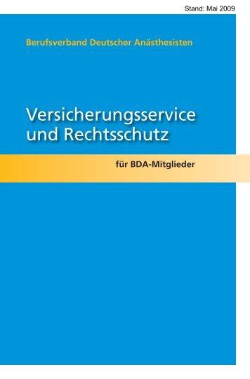 Versicherungsbroschüre Mai 2009 (PDF) - BDA