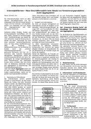 Neue Geschäftsmodelle beim Absatz von ... - Institut für Finanz