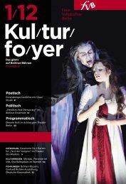 Kulturfoyer 01/2012 - Freie Volksbühne Berlin