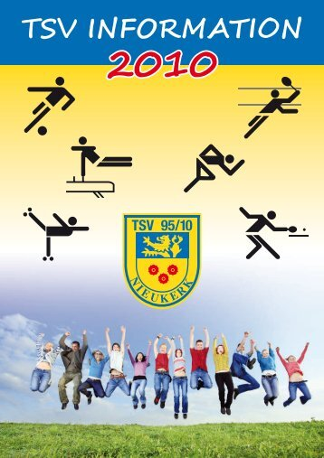 """Die Ausgabe """"TSV Information 2010"""" - TSV 95/10 Nieukerk e.V."""