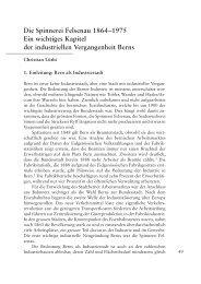 Die Spinnerei Felsenau - Berner Zeitschrift für Geschichte