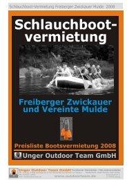 Schlauchboot- vermietung - Unger Outdoor Team