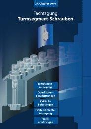 Fachtagung Turmsegment-Schrauben - ITH-GmbH