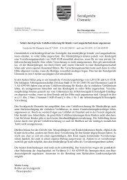 Sozialgericht Chemnitz - Justiz in Sachsen