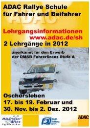ADAC Rallye Schule für Fahrer und Beifahrer - ADAC Motorsport
