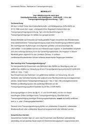 Merkblatt zur Transportgenehmigung - Landkreis Zwickau