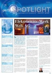 Spotlight 1-2009: Elektrizitäts-Werk Wels AG - GrECo
