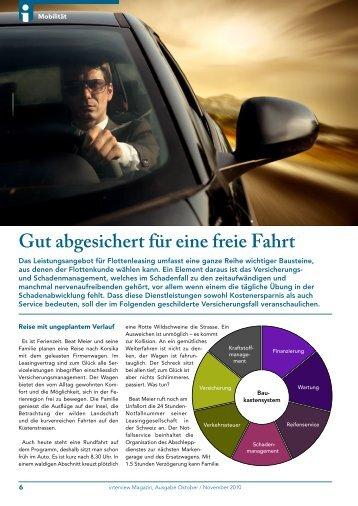 Gut abgesichert für eine freie Fahrt - Auto-Interleasing AG