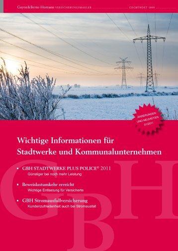 Wichtige Informationen für Stadtwerke und Kommunalunternehmen