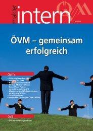 maklerintern 01_09.indd - Österreichischer Versicherungsmaklerring