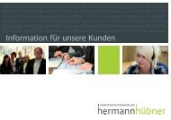 Kundeninformation zum Download - Hermann Hübner ...