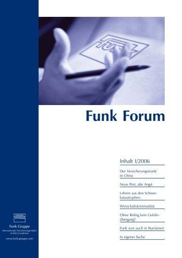 Funk Forum 1/2006 - Funk Gruppe