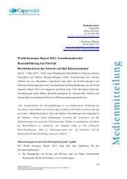 World Insurance Report 2012 - Capgemini Schweiz AG