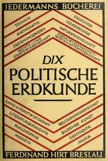 Politische erdkunde