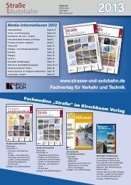 Mediadaten 2013 herunterladen - Straße und Autobahn