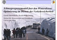 Schneeprognosemodell für den Winterdienst – Optimierung im ...