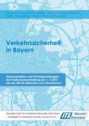 Verkehrssicherheit in Bayern - its munich