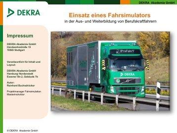 Simulatorgestützte Seminare - Eine Präsentation des LKW ... - Eval.at