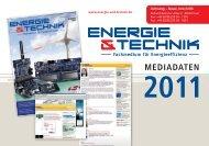 Newsletter-Themenplan 2011 (PDF) - Energie & Technik