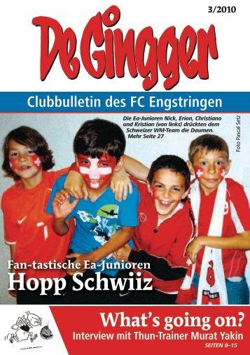Fan-tastische Ea-Junioren Hopp Schwiiz - FC Engstringen