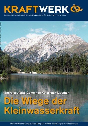 KWK0406 Kraftwerk 14 RZ.indd - Kleinwasserkraft Österreich