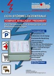 Störmelde-Kompakt-Zentrale für 24 Meldelinien mit optionaler