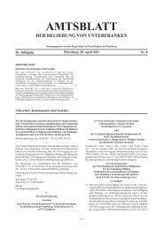 amtsblatt der regierung von unterfranken