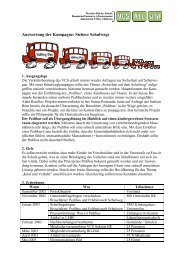 Auswertung der Kampagne: Sichere Schulwege