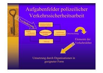 Aufgabenfelder polizeilicher Verkehrssicherheitsarbeit - hp krings