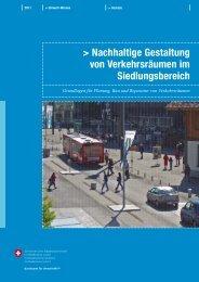 Nachhaltige Gestaltung von Verkehrsräumen im Siedlungsbereich