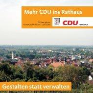 das Wahlprospekt 2009 mit unseren Kandidaten für - CDU Hemsbach