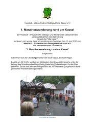 1. Marathonwanderung rund um Kassel - Hessisch-Waldeckischer ...