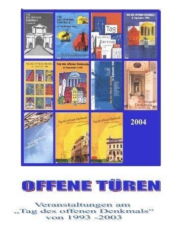 """Broschüre """"10 Jahre Tag des offenen Denkmals ... - Kreis Pinneberg"""