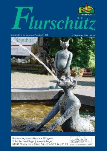 Amtsblatt für die Gemeinde Morsbach | 248 1. September 2012 | Nr. 12