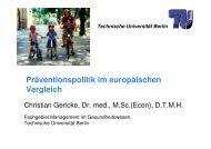 Präventionspolitik im europäischen Vergleich - Fachgebiet ...
