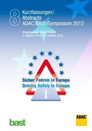 Sicher Fahren in Europa - Abstracts - ADAC