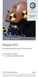 3. Internationale Tagung Whiplash - TÜV Süd