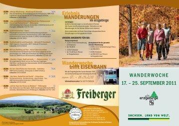 Wanderwoche - Landesverein Sächsischer Heimatschutz e.V.