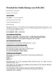 Protokoll der StuRa-Sitzung vom 18.01.2011 - StuRa Chemnitz