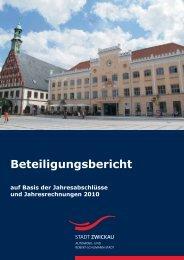 Beteiligungsbericht 2010 - Stadt Zwickau
