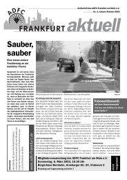 Radsport - ADFC Frankfurt