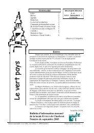 Bulletin d'information mensuel de la locale ECOLO de Charleroi ...