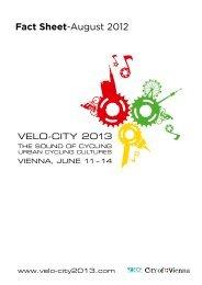 Velo-city 2013 Factsheet