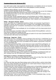 Touren 2012 - ATB Schweiz, Verband für Sport-Freizeit-Verkehr
