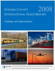 Sonoma County International Trade Report, 2008